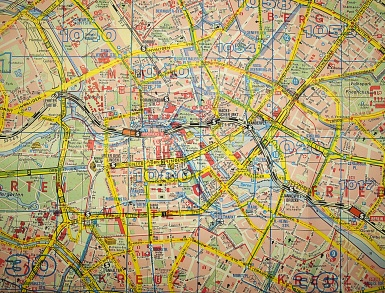 Central (eastern) Berlin, 1993 (Falkplan)